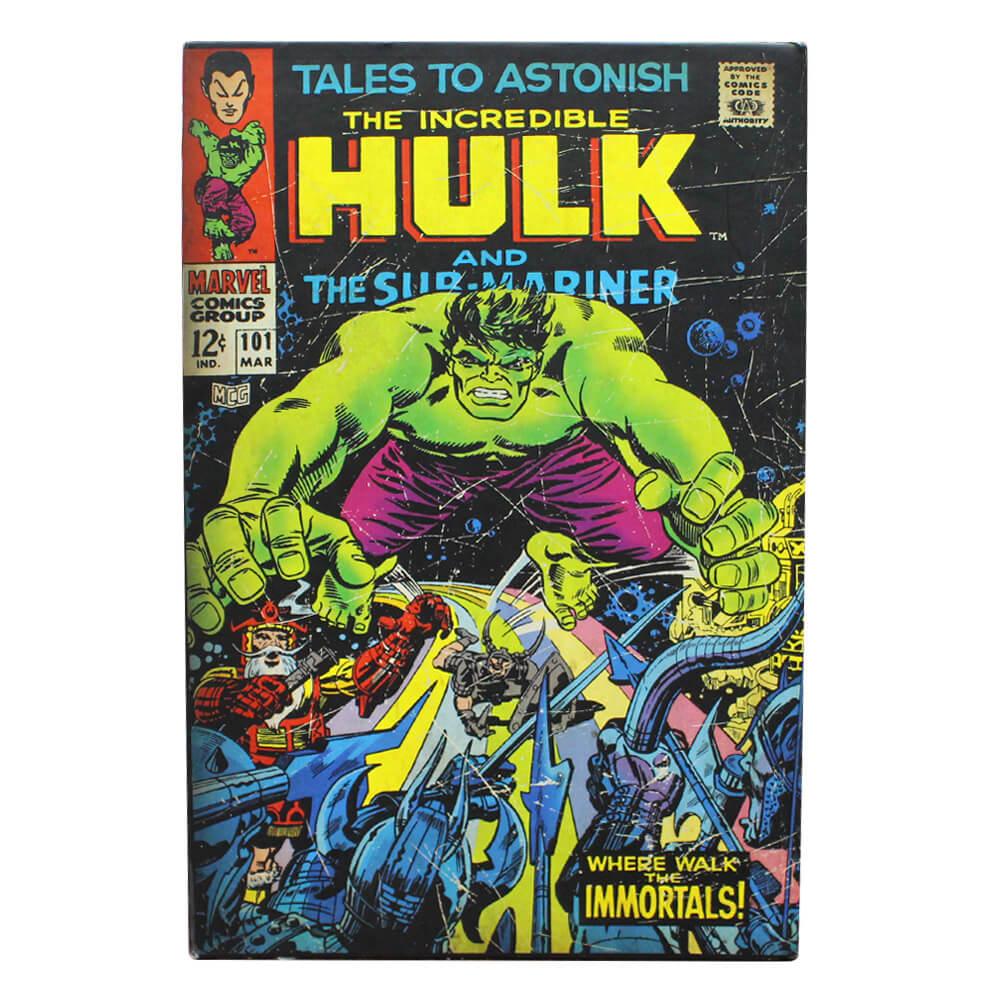 Cofre livro hulk Unica