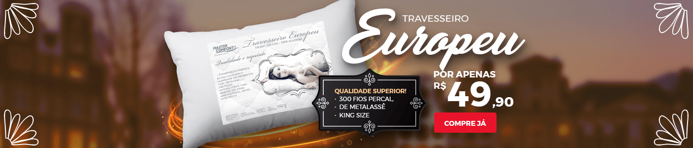 Travesseiro Europeu
