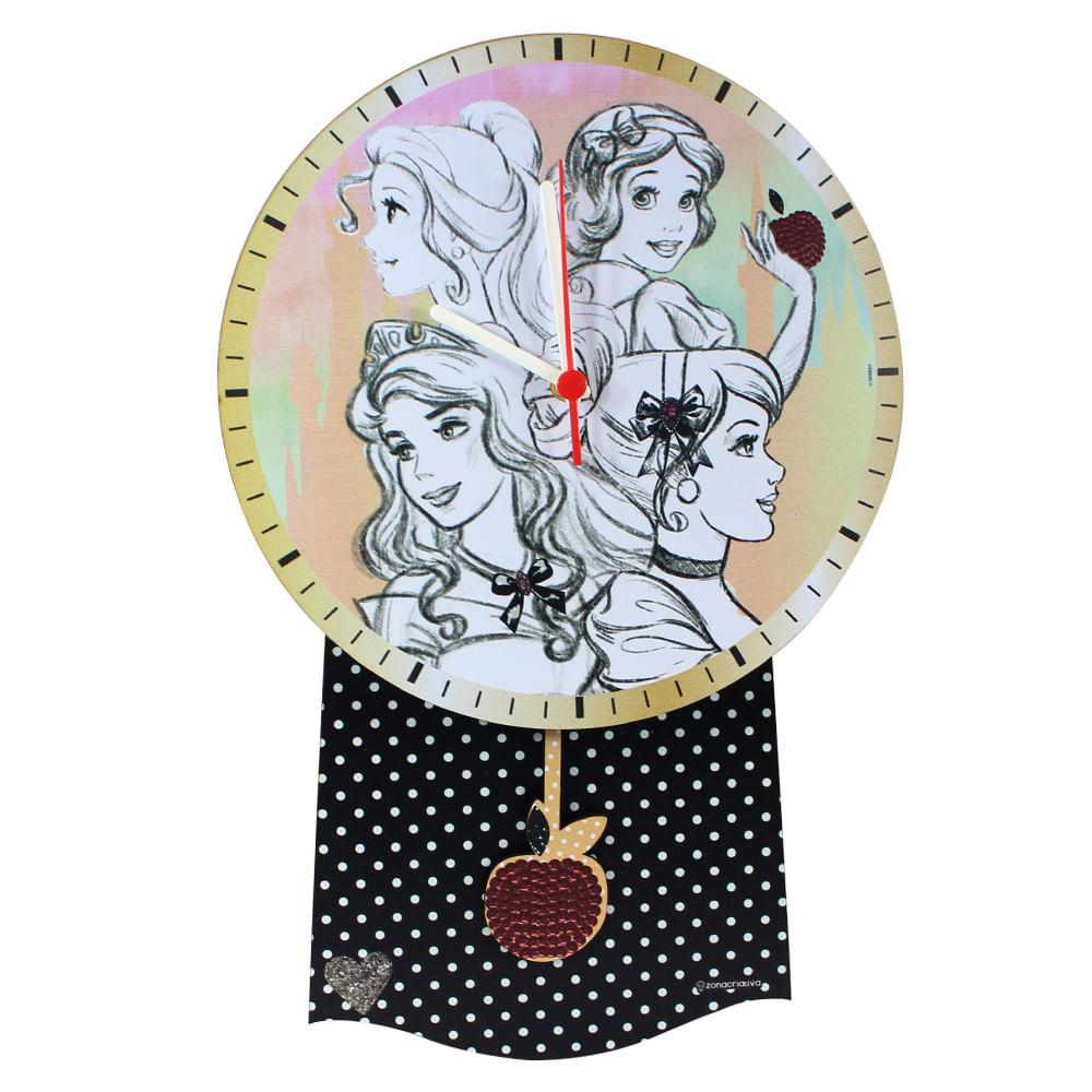 812ea14bccf 10081343 relogio pendulo princesas 01. Relógio de pendulo princesas