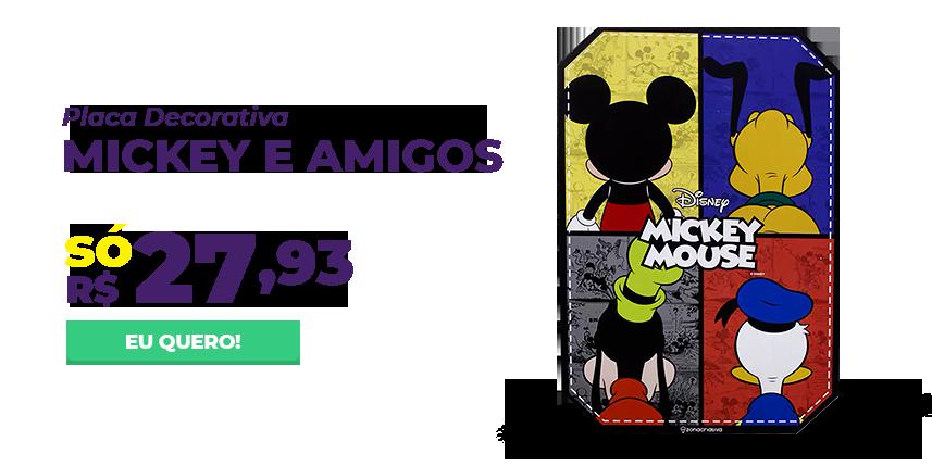 Mes consumidor - Placa decorativa mickey